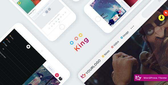 WordPress模板主题 仿内涵段子图片分享社区 King v2.5